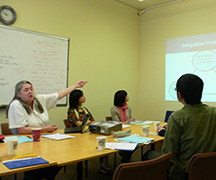 GSI教育研究センターで講義を受ける