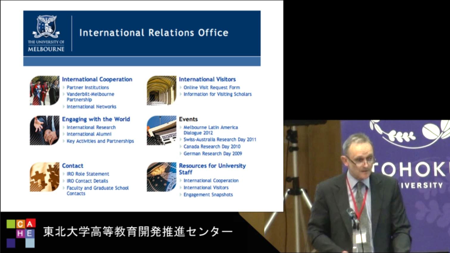 Managing internationalisation: The priorities of the University of Melbourne
